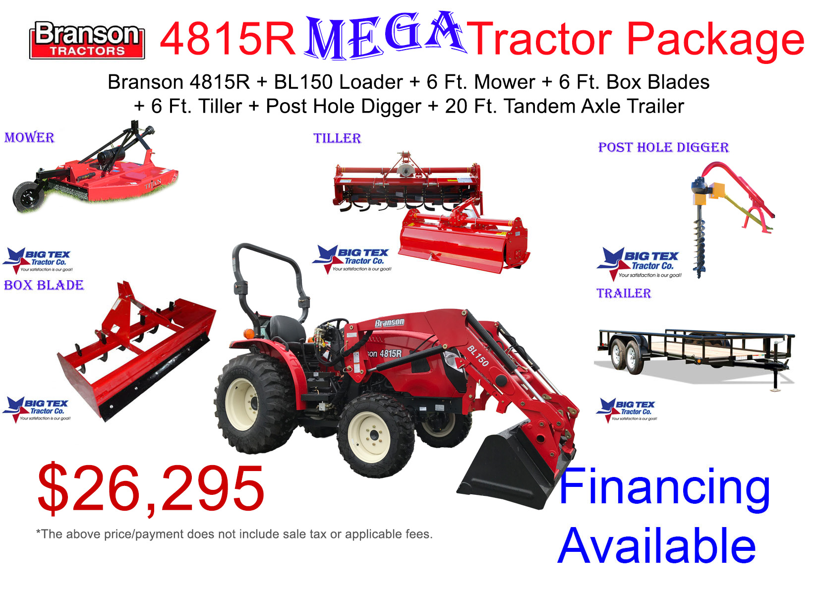 Big Tex Tractor  Branson 4815R Mega Tractor Package Deal