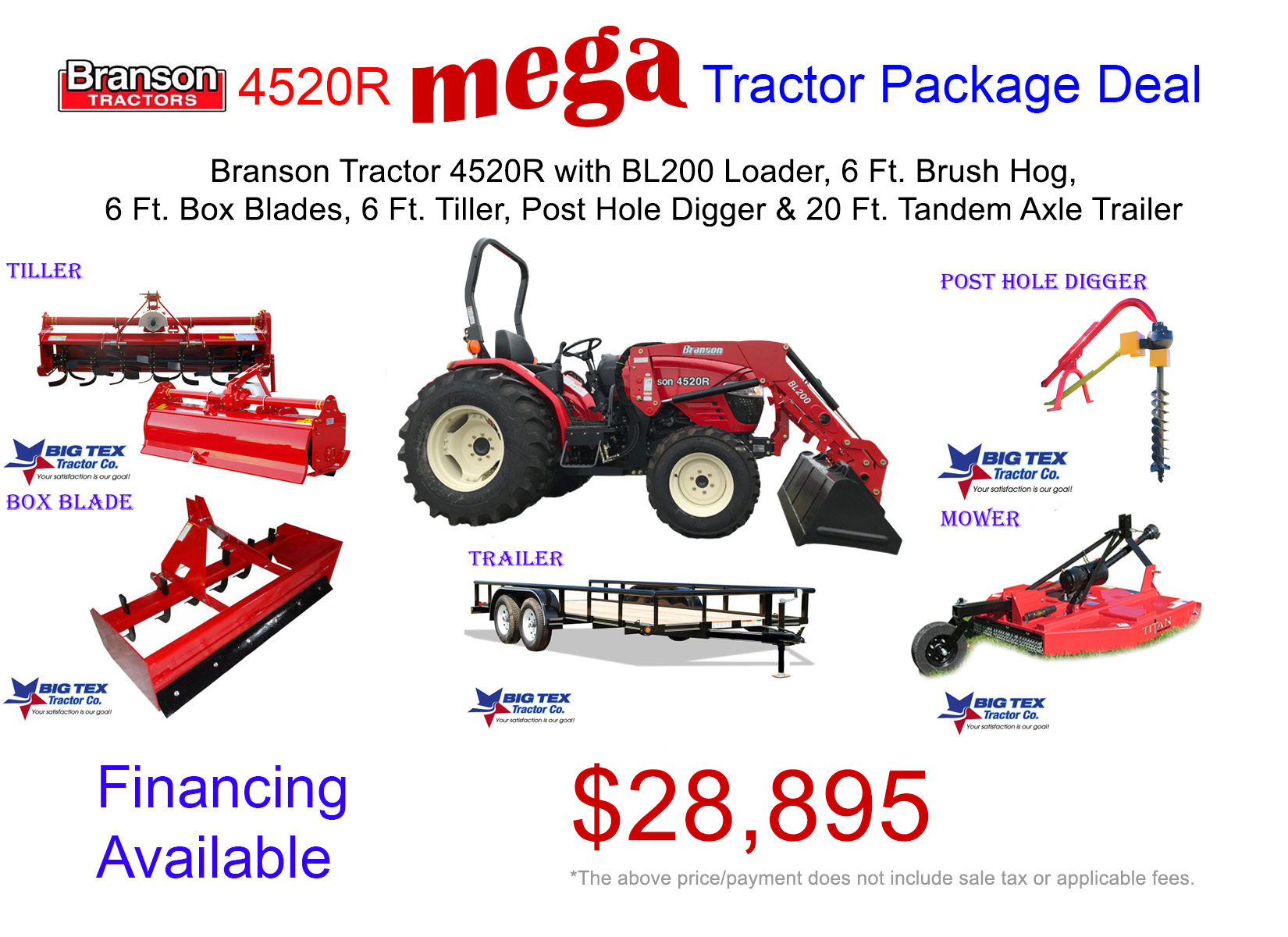 Branson 4520R Mega Tractor Package Deal  28895