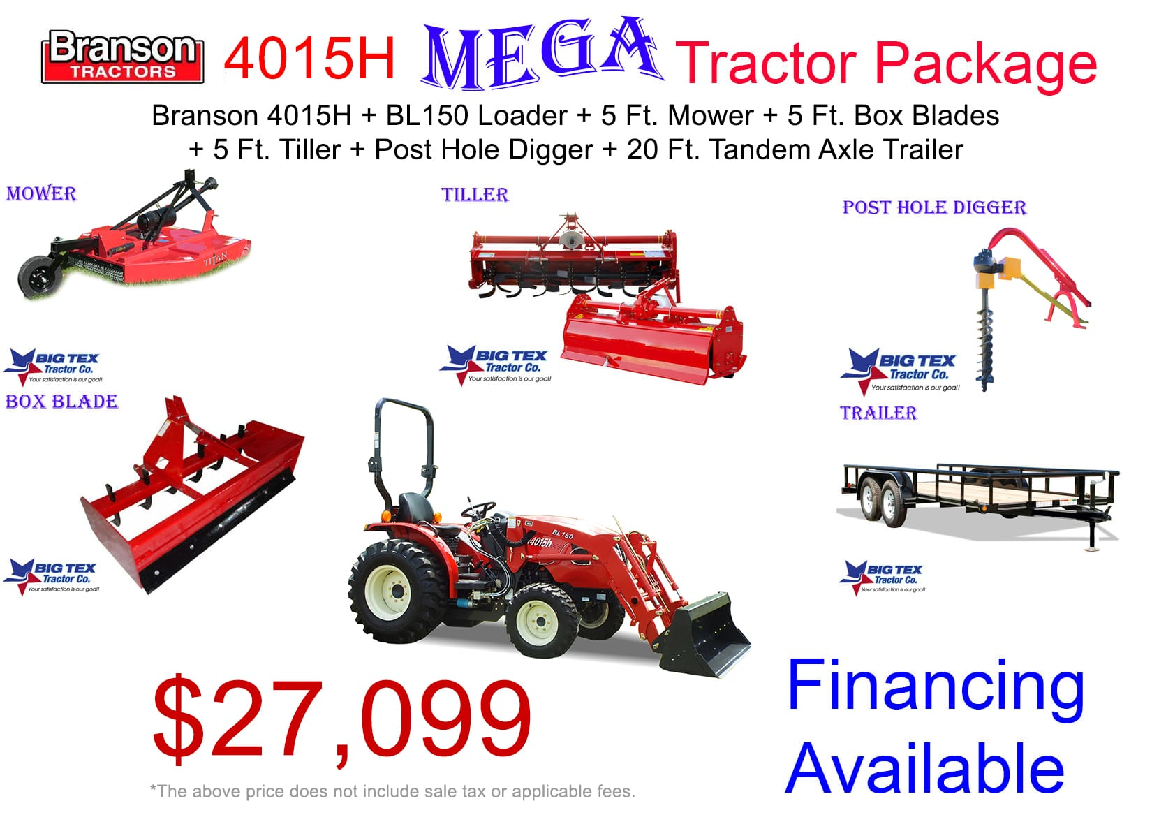 2019 - 4015h mega tractor package