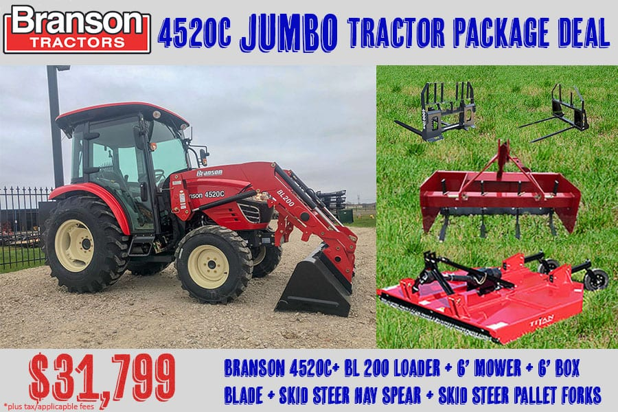 Branson 4520C Jumbo Tractor Package Deal